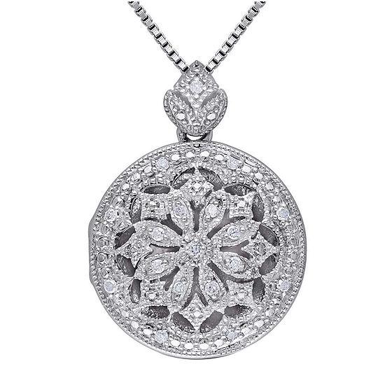 1/10 CT. T.W. Diamond Sterling Silver Pendant