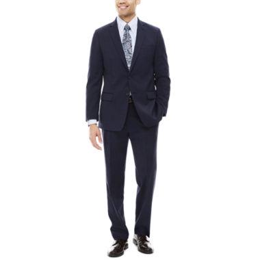jcpenney.com | Claiborne® Stretch Blue Neat Classic-Fit Suit Separates