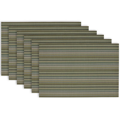 Design Imports Micro Stripe Set of 6 Placemats