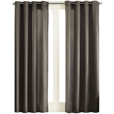 Marin Striped Grommet-Top Curtain Panel