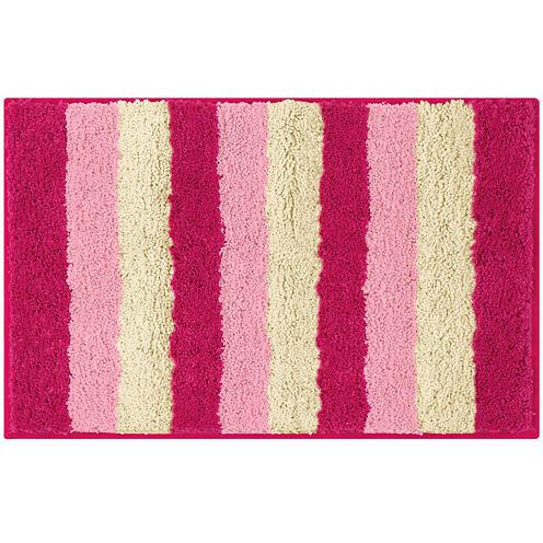 Bathtopia Radella Microfiber Stripe Bath Rug Collection