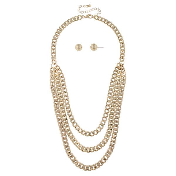 Mixit Mixit Womens 2-pc. Necklace Set cdya8