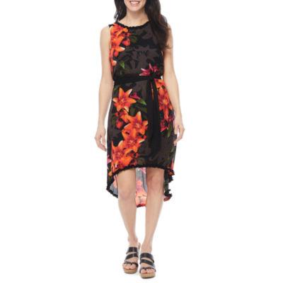 Worthington Sleeveless Floral Shift Dress