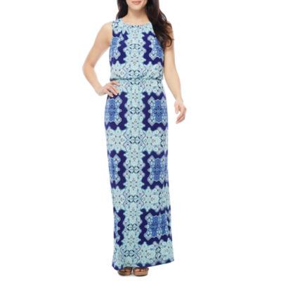 Melrose Sleeveless Geometric Maxi Dress