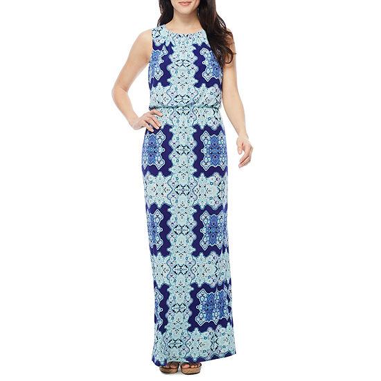 Melrose Sleeveless Geometric Maxi Dress
