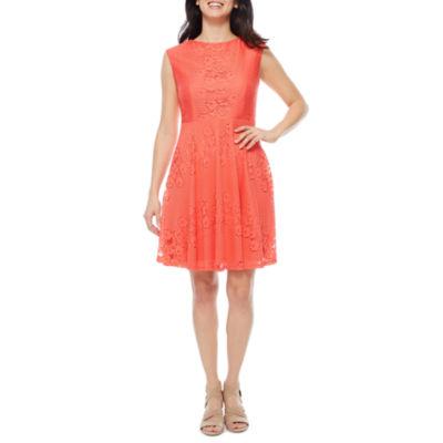 Studio 1 Sleeveless Fit & Flare Dress