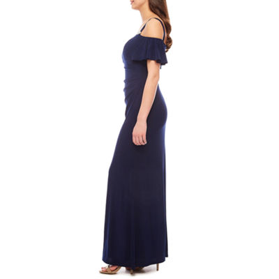 Jackie Jon Cold Shoulder Evening Gown