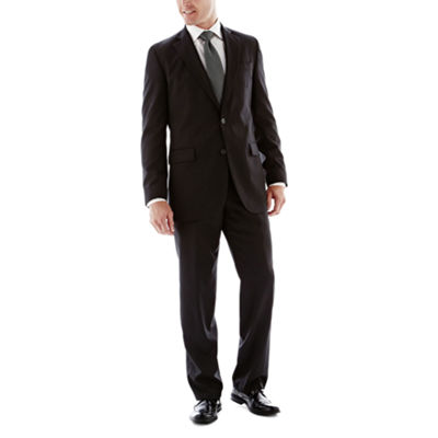 Stafford Travel Wool Blend Stretch Black Suit Separates-Slim Fit