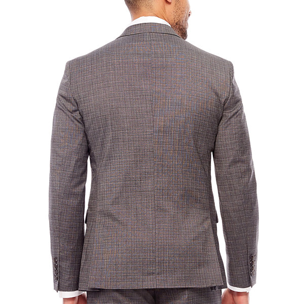 JF Gray Check Jacket Slim