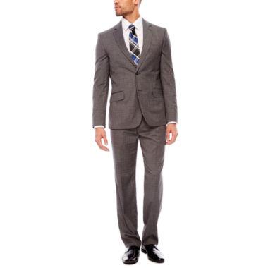 jcpenney.com   JF J. Ferrar Stretch Gray Check Suit Separates- Classic Fit