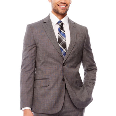 JF Stretch Gray Check Jacket Classic