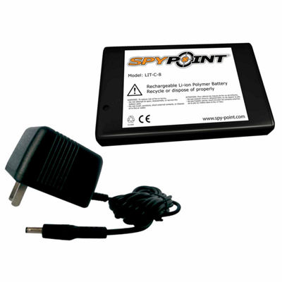Spypoint Rechargable Lithium Battery W/AC Charger