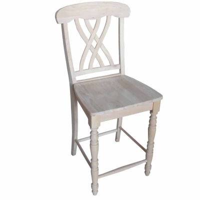 Lattice Counter Height Bar Stool