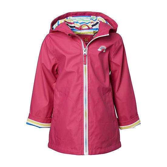 Pink Platinum Toddler Girls Water Resistant Lightweight Raincoat