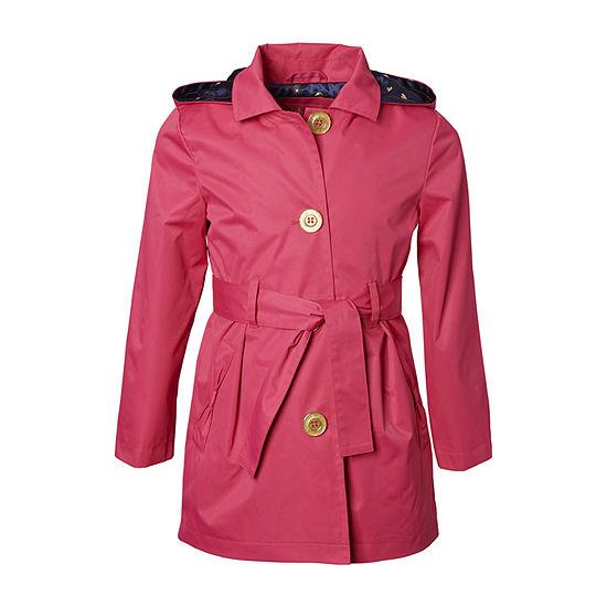 Pink Platinum Big Girls Trench Coat