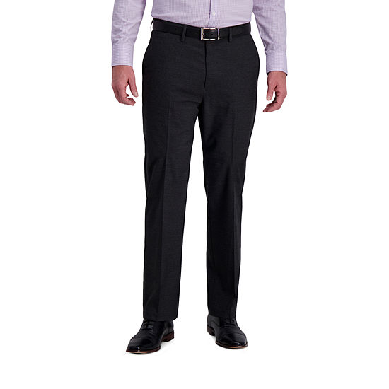 J.M. Haggar 4-Way Stretch Fashion Patterned Classic Fit Flat Front Dress Pants