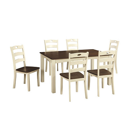 Signature Design by Ashley Milford 7-Piece Rectangular Dining Set, One Size , Multiple Colors