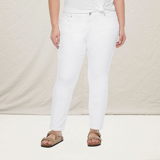 a.n.a-Plus Womens Skinny Ankle Jean