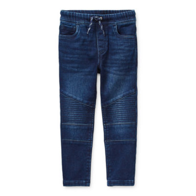 Okie Dokie Denim Toddler Boys Tapered Pull-On Pants