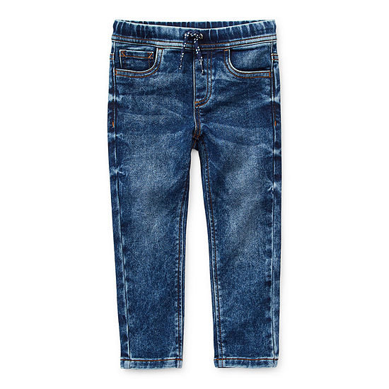 Okie Dokie Denim Toddler Boys Tapered Pull-On Pants