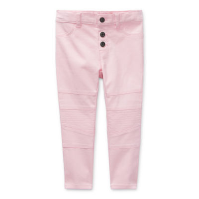 Okie Dokie Toddler Girls Slim Flat Front Pant