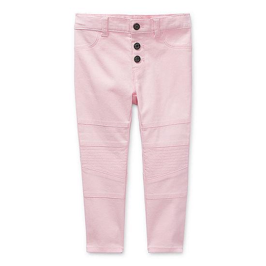 Okie Dokie Toddler Girls Slim Flat Front Pant