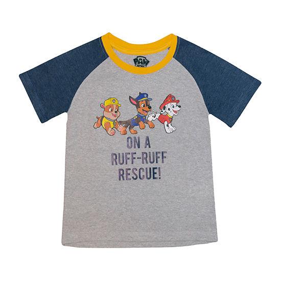 Toddler Boys Round Neck Paw Patrol Short Sleeve Graphic T-Shirt