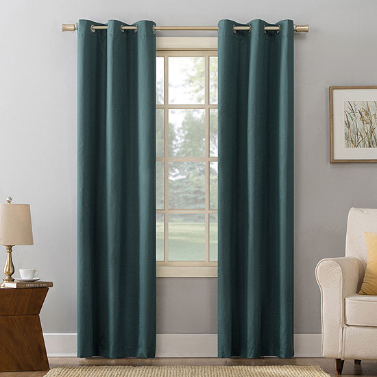 Sun Zero Cooper Room Darkening Thermal Insulated Grommet Curtain Panel