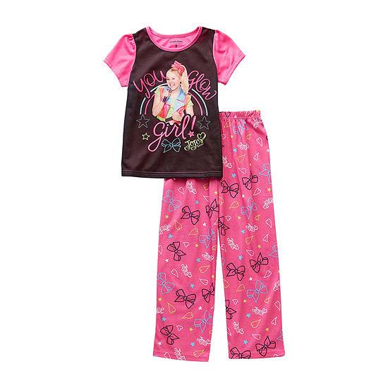 Jojo Siwa Little & Big Girls 2-pc. Pant Pajama Set