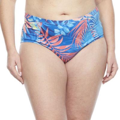Peyton & Parker Family Swim Leaf High Waist Bikini Swimsuit Bottom Plus