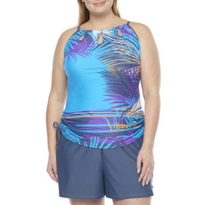 Free Country Tankini Swimsuit Top Plus