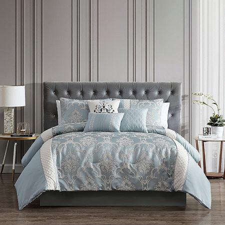 Riverbrook Home Julietta 7-pc. Jacquard Comforter Set, One Size , Blue