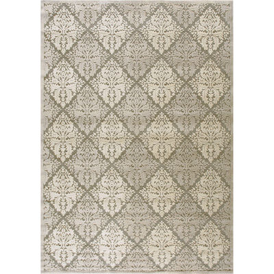 Nourison® Queen Anne High-Low Carved Rectangular Rug