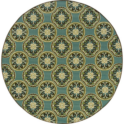 Covington Home Martinique Sand Dollar Indoor/Outdoor Round Rug