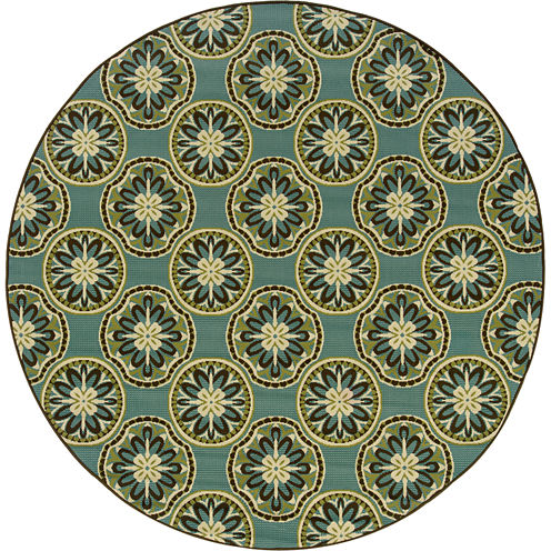 Covington Home Montego Sand Dollar Indoor/Outdoor Round Rug