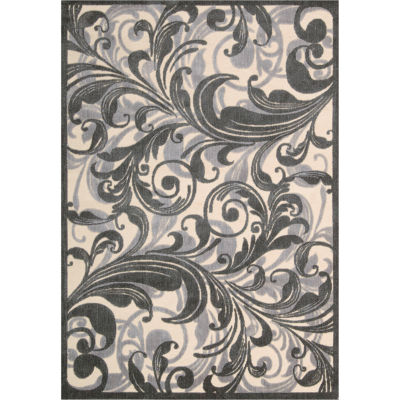 Nourison® Tuscan Song High-Low Carved Rectangular Rug