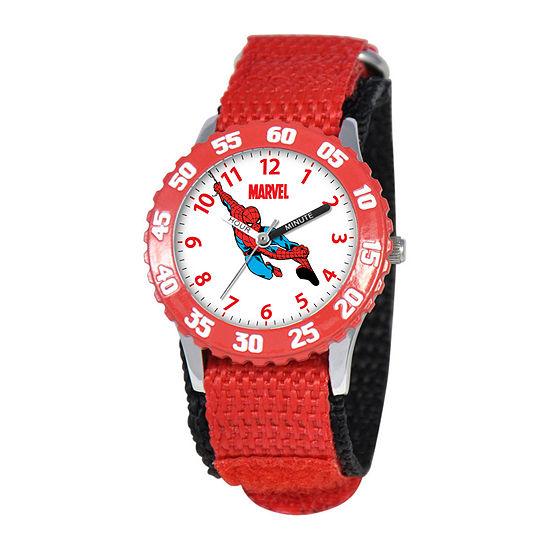 Marvel Spiderman Time Teacher Kids Red Fast Strap Watch
