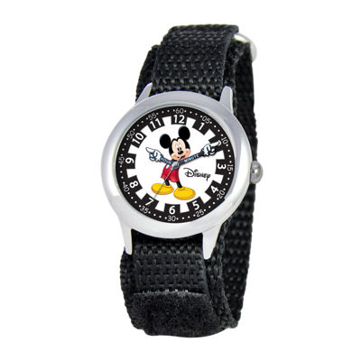 Disney Articulating Mickey Mouse Time Teacher Kids Fast Strap Watch