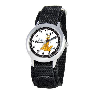 Disney Time Teacher Pluto Black Fast Strap Watch