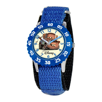 Disney Cars Kids Nylon Strap Easy-Read Fast Strap Watch