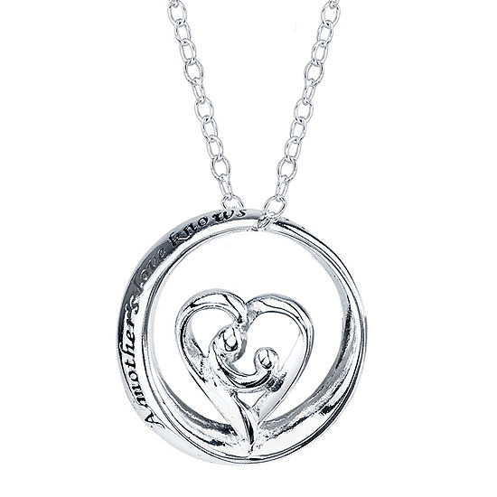 Footnotes® Sterling Silver A Mother's Love Pendant Necklace