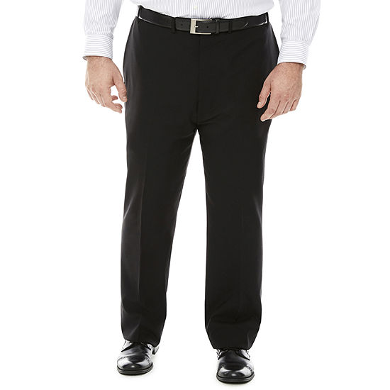 Claiborne® Grid Flat-Front Suit Pants - Big & Tall
