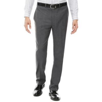 Claiborne® Sharkskin Flat-Front Pants - Classic