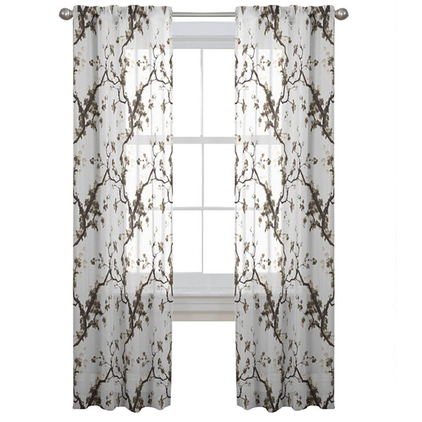 Daphnia Sheer Rod-Pocket Curtain Panel
