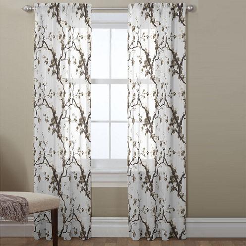 Daphnia Sheer Rod-Pocket Curtain Panel