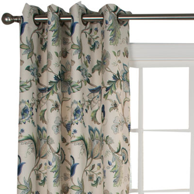 Brissac Lined Grommet-Top Curtain Panel