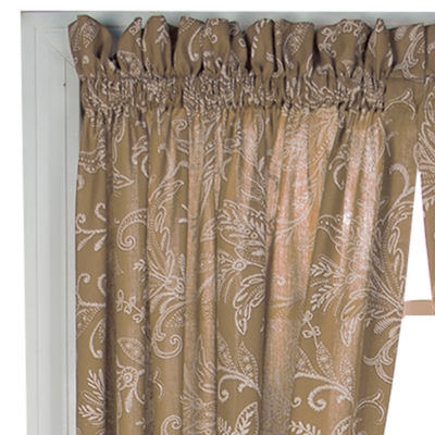 Floating Leaves 2-Pack Rod-Pocket Curtain Panels