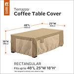 Classic Accessories® Terrazzo Rectangular Coffee Table Cover