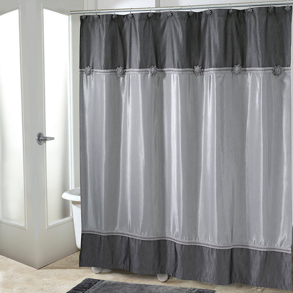 Avanti® Braided Medallion Shower Curtain