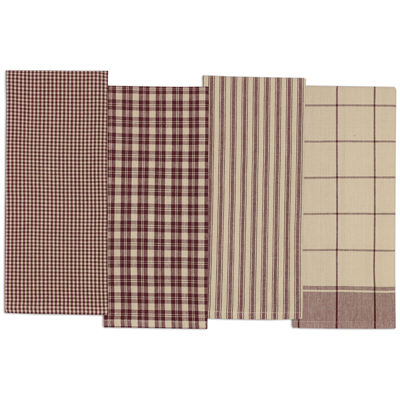 Design Imports Plum Set of 4 Kitchen Towels